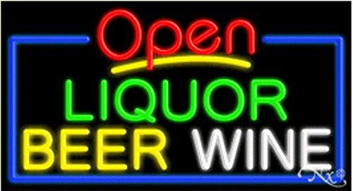Liquor Beer Wine Open Handcrafted Energy Efficient Glasstube Neon Signs