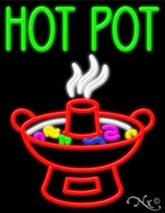 Hot Pot Handcrafted Energy Efficient Real Glasstube Neon Sign
