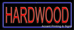 Hardwood Handcrafted Real GlassTube Neon Sign