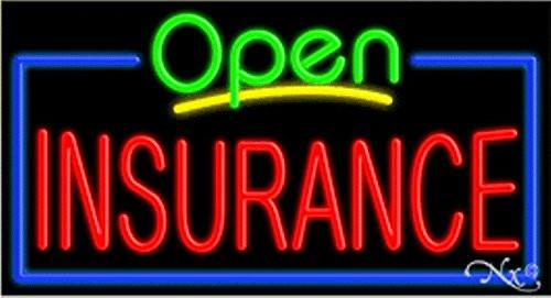 Insurance Open Handcrafted Energy Efficient Glasstube Neon Signs