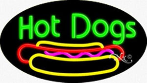 Hot Dogs Handcrafted Energy Efficient Flashing Glasstube Neon Signs
