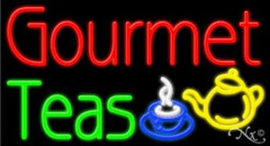 Gourmet Teas Handcrafted Energy Efficient Real Glasstube Neon Sign