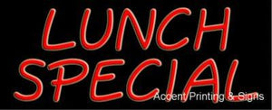 Lunch Special Handcrafted Real GlassTube Neon Sign