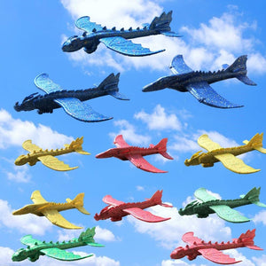 Hand Launch Throwing Glider Aircraft Inertial Foam EPP Dinosaur Dragon Plane Model  48cm