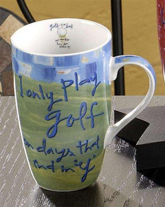 Joyce Shelton Just A Job Mug, Golfer from Giftcraft