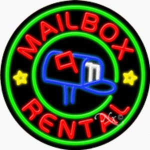 Mailbox Rental Handcrafted Energy Efficient Real Glasstube Neon Sign