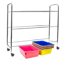 Load image into Gallery viewer, Amazon sorbus toy bins office supply organizer on wheels plastic storage cart with removable bins ideal for toys books crafts office supplies and much more primary colors
