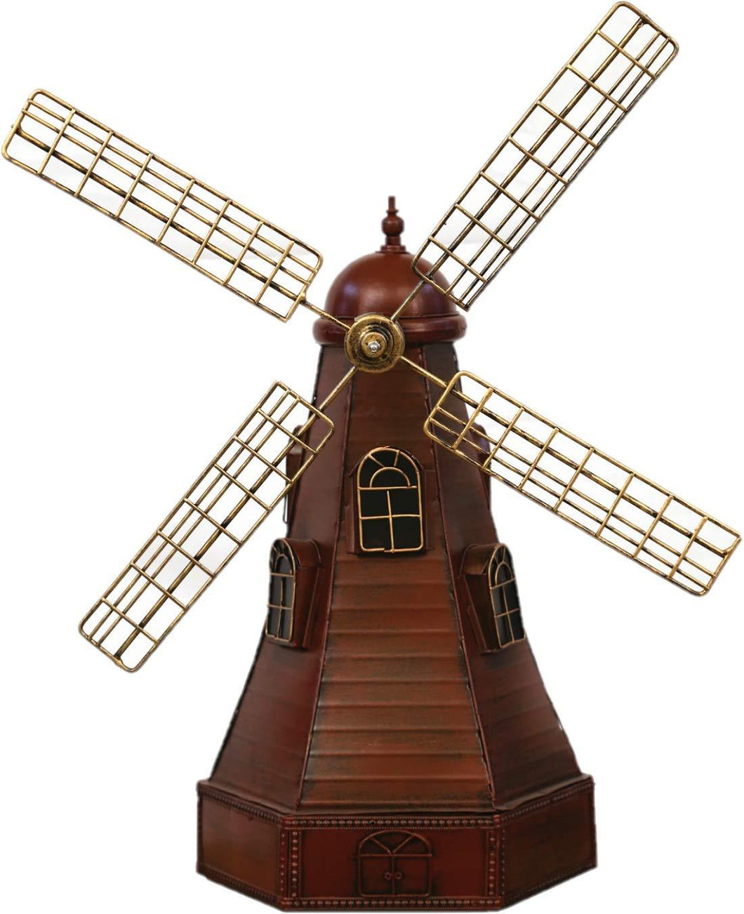 Home Decor Windmill Indoor Large Decoration Bright Vintage Metal Craft Furnishing