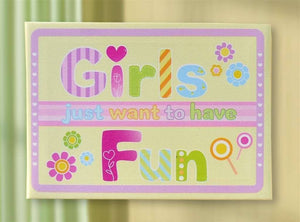 Girls Canvas Wall Art by Giftcraft