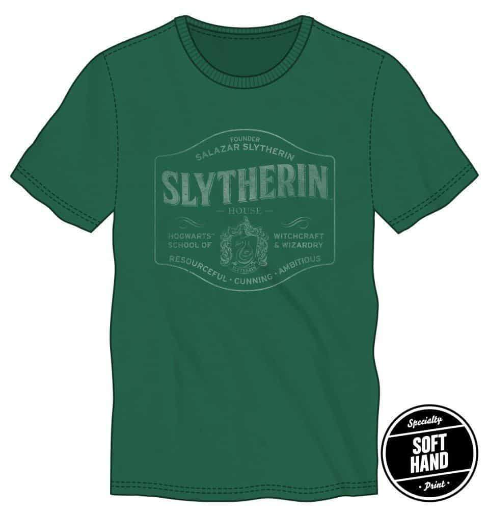Harry Potter Founder Salazar Slytherin of Slytherin House Hogwarts School of Witchcraft & Wizardry Men's Green T-Shirt