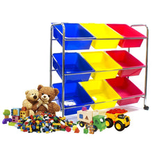 Load image into Gallery viewer, Best sorbus toy bins office supply organizer on wheels plastic storage cart with removable bins ideal for toys books crafts office supplies and much more primary colors