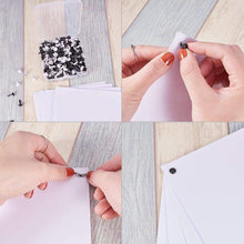 Load image into Gallery viewer, Organize with nbeads 1 box 600pcs mini iron brads black and white round metal paper fastener for scrapbooking crafts making stamping photo album and paper cards diy