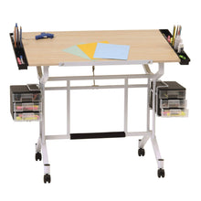 Load image into Gallery viewer, Explore studio designs pro craft station in white with maple 13245