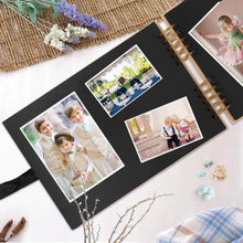 Load image into Gallery viewer, Shop for innocheer scrapbook classic photo album storage box 80 pages craft paper diy anniversary wedding photo album diy accessories kit