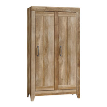 Load image into Gallery viewer, Buy sauder 418141 adept storage wide storage cabinet l 38 94 x w 16 77 x h 70 98 craftsman oak finish