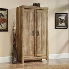 Load image into Gallery viewer, Exclusive sauder 418141 adept storage wide storage cabinet l 38 94 x w 16 77 x h 70 98 craftsman oak finish