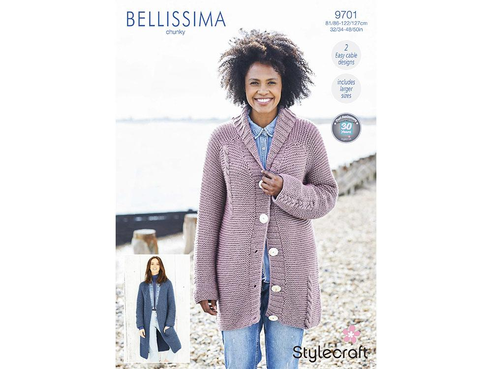 Jacket and Cardigan Stylecraft Bellissima Chunky (9701)