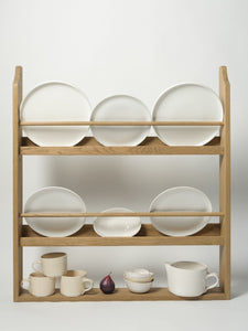 Handcrafted Oak Plate Rack
