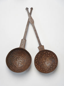 Handcrafted Indian Metal Straining Ladles