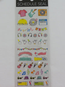 Cute Kawaii Mind Wave Music Records Karaoke Fun time Schedule Sticker Sheet - for Journal Planner Craft Organizer