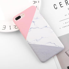 Load image into Gallery viewer, Granite Scrub Marble Phone Cases For iPhone 6 6S 7 Plus 5 5S SE 3D Aircraft Stars Plastic Hard Back Cover Case for iPhone 8 Plus