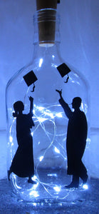Handcrafted Light up bottle- Beautiful handmade graduation light up bottle