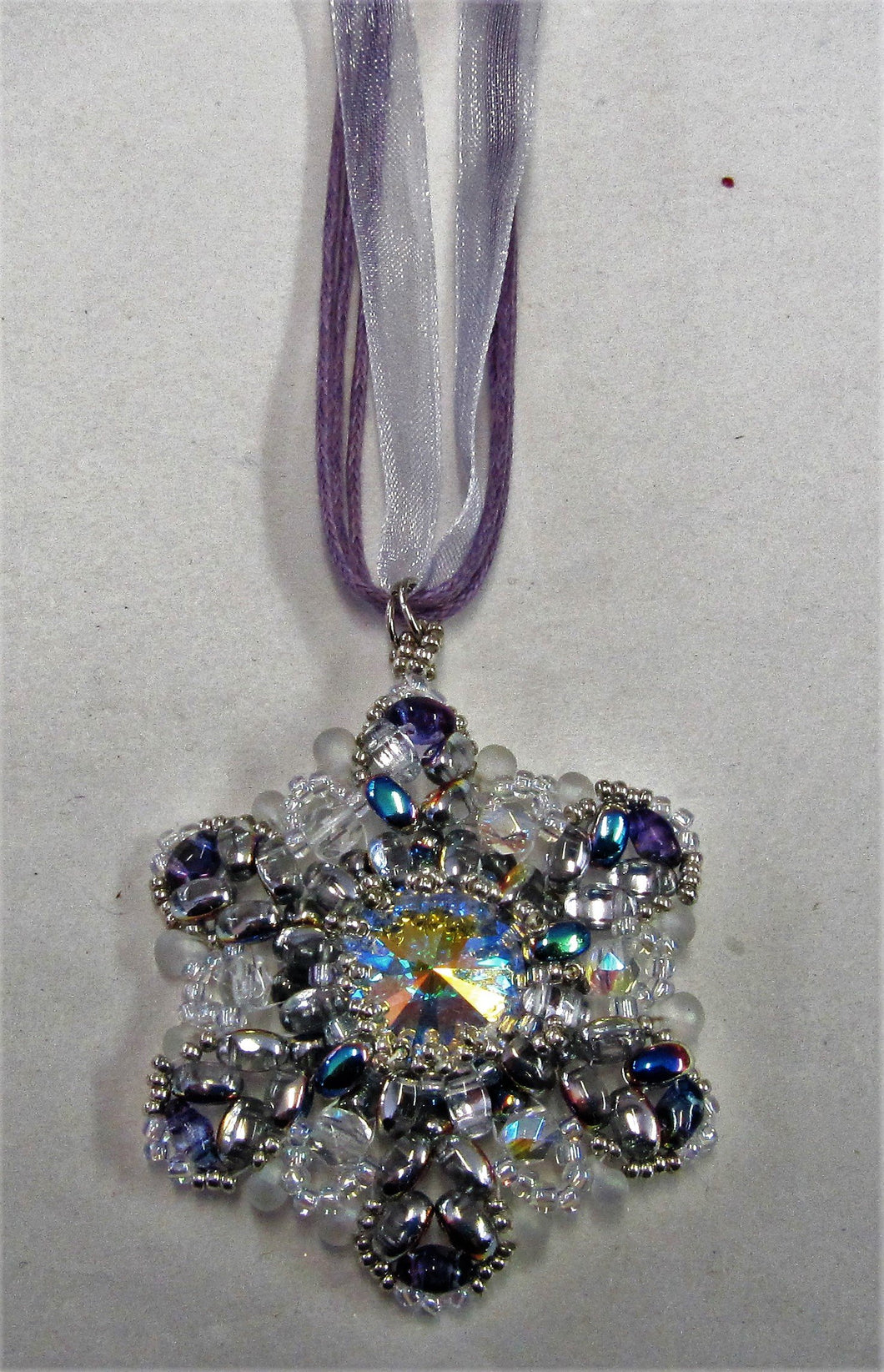 Handcrafted Swarovski Crystal Snowflake Necklace