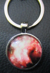 "Handcrafted ""Galaxy"" metal key ring"