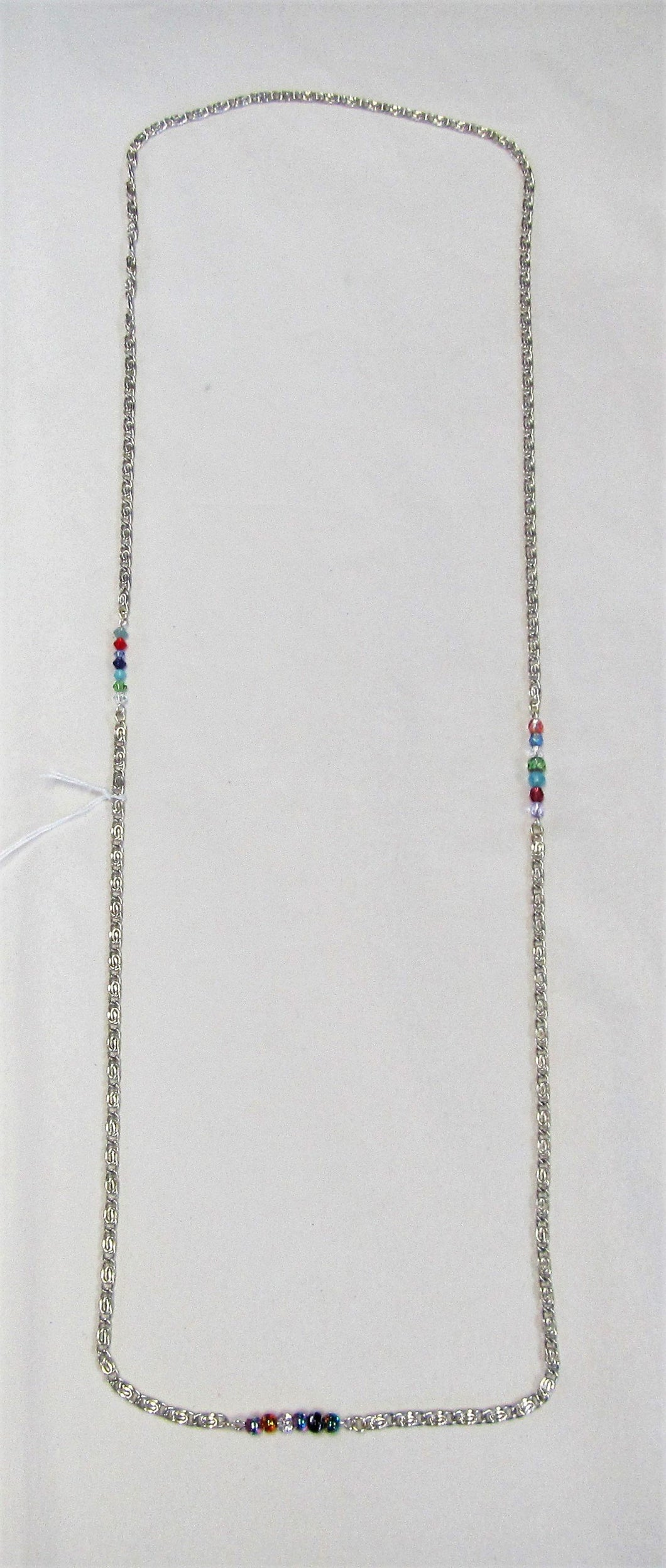 Handcrafted chain and bead necklace
