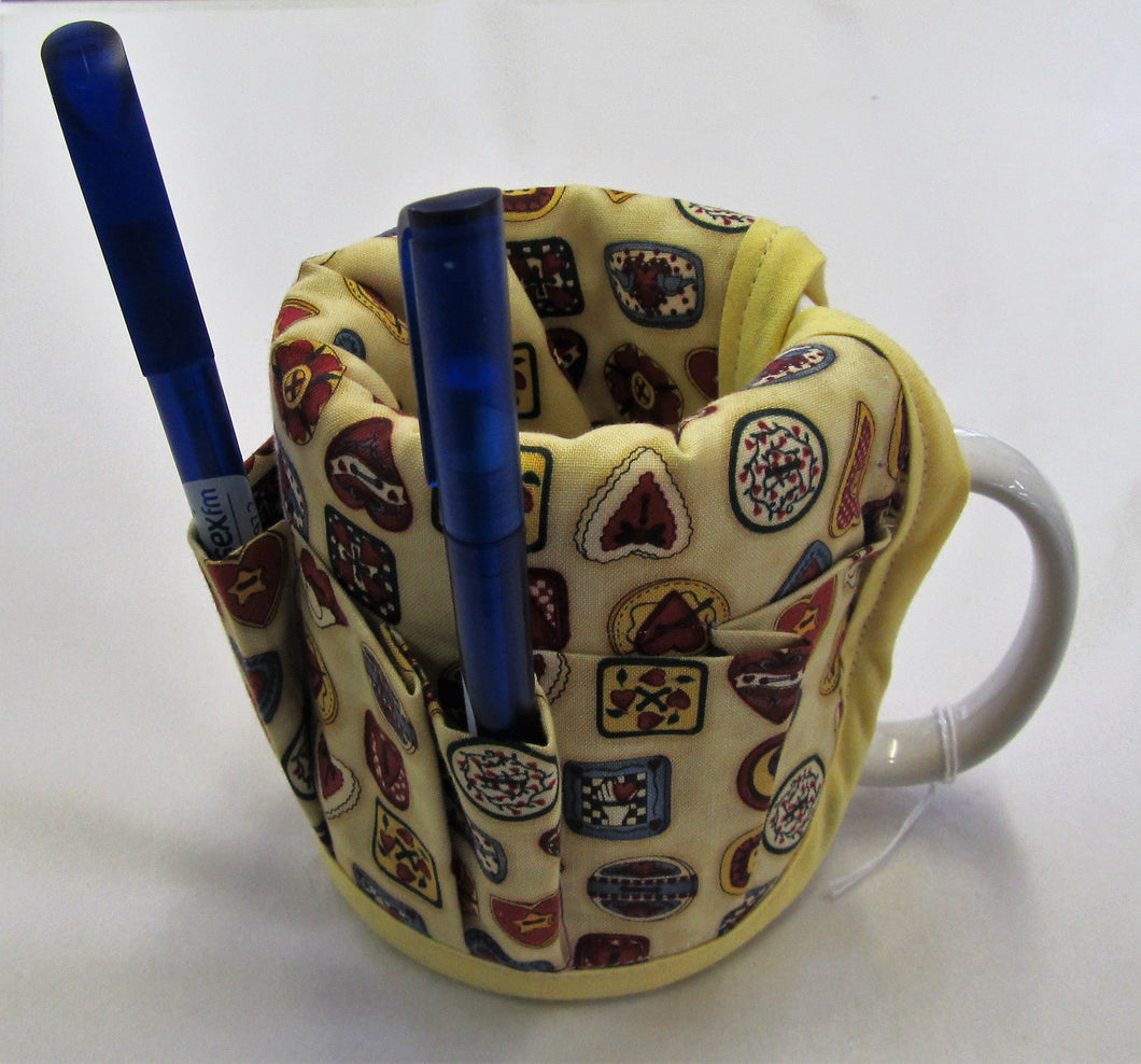Handcrafted mug caddy complete with mug