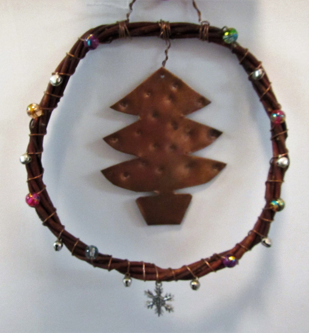 Handcrafted Christmas tree dream catcher