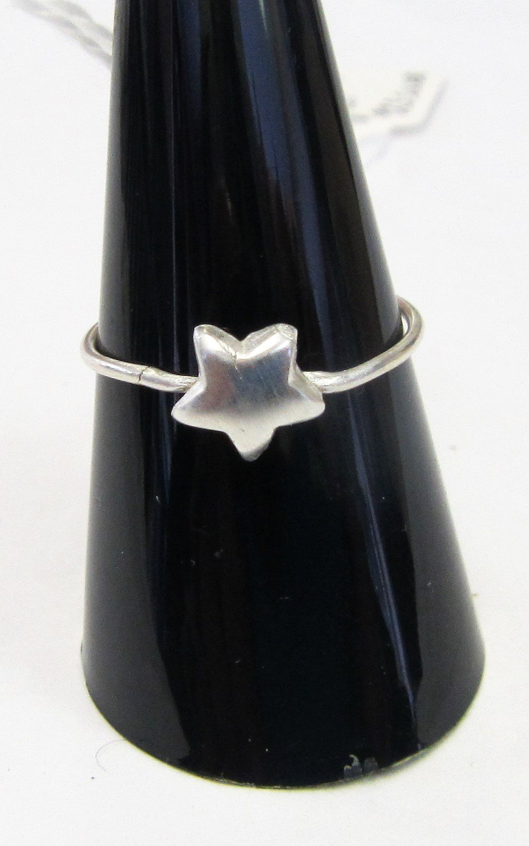 Handcrafted sterling silver star wire ring  Size P