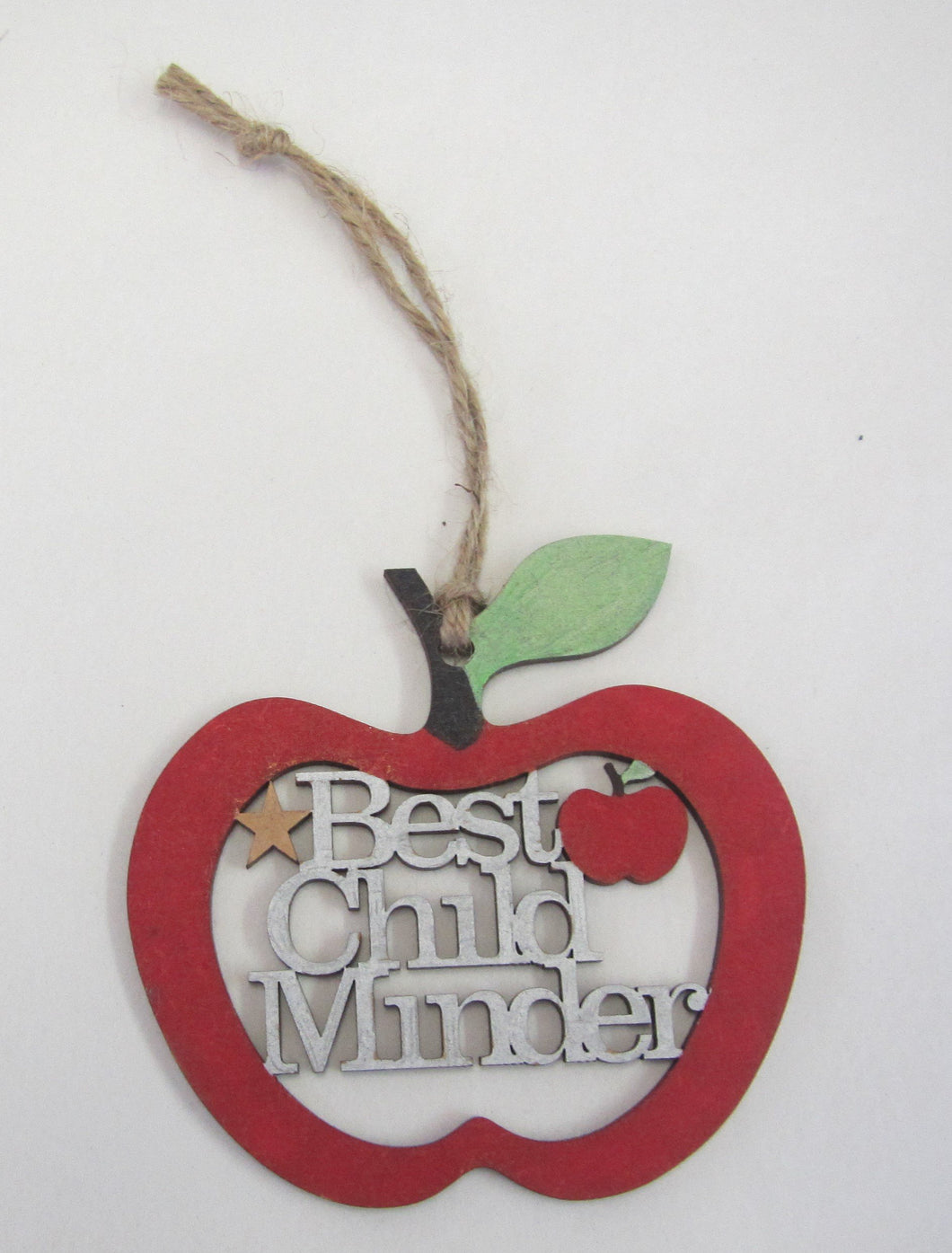 Handcrafted beautiful best teacher apple hanging decorations