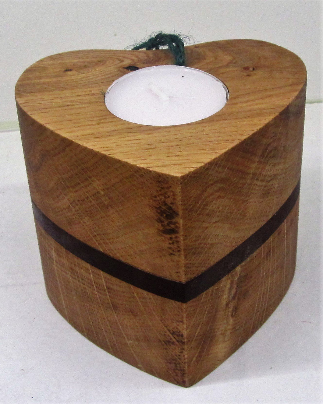 Handcrafted beautiful heart wood t-light holder - various sizes