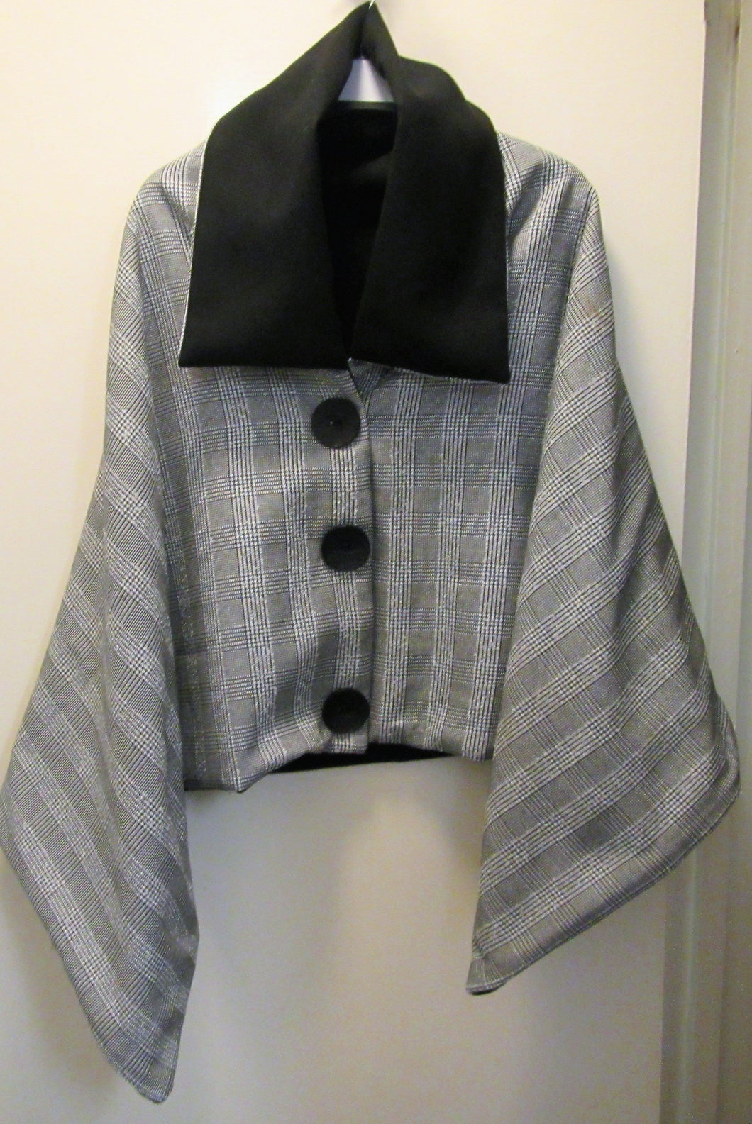 Handcrafted beautiful tweed woman's poncho