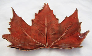 Handcrafted beautiful ceramic leaf plates