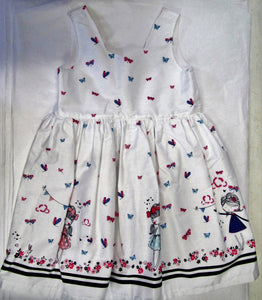 Hand crafted white butterfly party dress 2-3 years