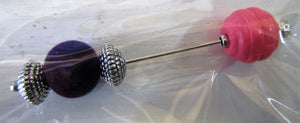 Handcrafted Knitwear pins size approximately 7 cm long