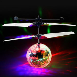 LED Magic Flying Ball Sensor LED Crystal Flying Ball Helicopter Induction Aircraft Intelligent Toy