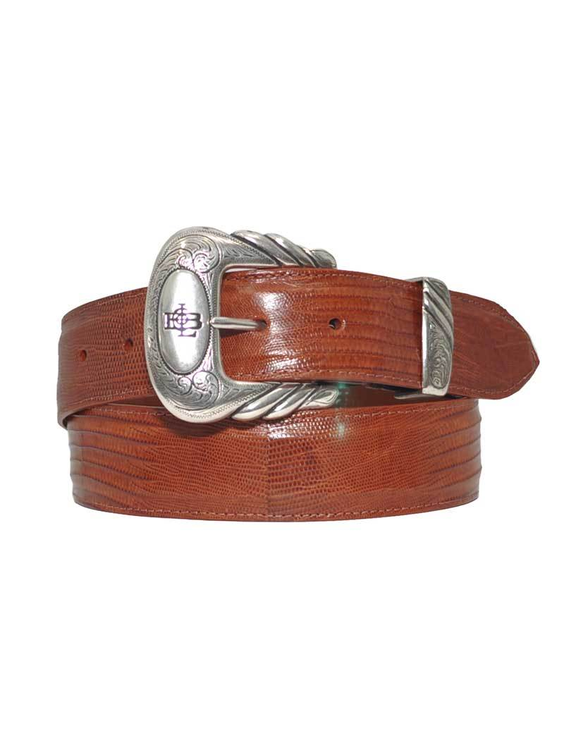 Lucchese Genuine Lizard Handcrafted in USA Western Belt W8051 Brown