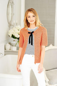 Ladies Top & Cardigan in Stylecraft Linen Drape (9514)