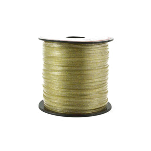 Gold Sparkle Plastic Craft Lace Lanyard Gimp String Bulk 100 Yard Roll