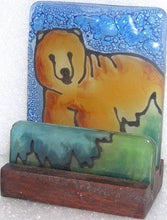 Load image into Gallery viewer, Handcrafted Fused Glass Business Card Holder From Pampeana, Choice of Style