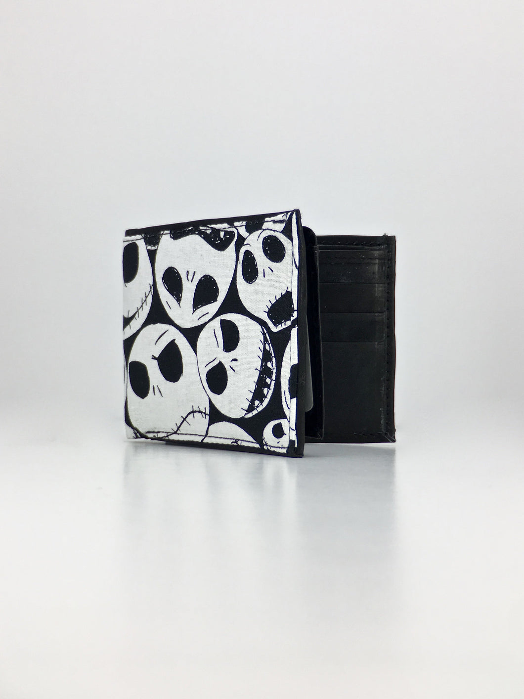 Jack Skellington print handcrafted billfold wallet