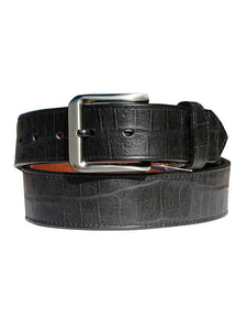 Gingerich Handcrafted Croc Print USA Made Belt 8244-18 Black