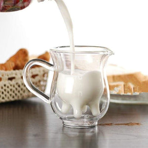 Handcrafted Double-Deck Cow Udder Creamer