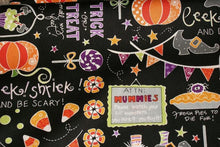 Load image into Gallery viewer, Halloween Fabric, Pumpkin Fabric, By The Yard, Maywood Studio, Quilting Fabric, Crafting Sewing Fabric, Novelty Fabric, Halloween Candy        Update your settings