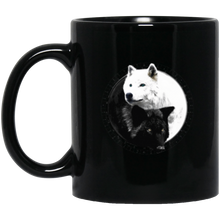 Load image into Gallery viewer, Yin Yang Wolf Inspired by Witchcraft & Wicca 11 oz. or 15 oz. Black Mug