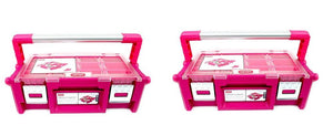 "Keter Pink 18"" Cantilever Toolbox Organizer Crafts Storage Bin, 2-Pack"
