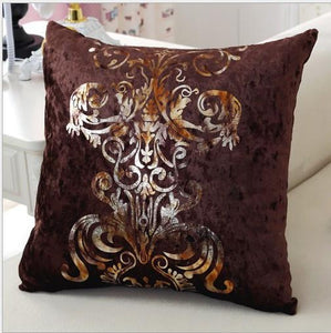 Luxurious Handcrafted Bronzing Cushion Cover